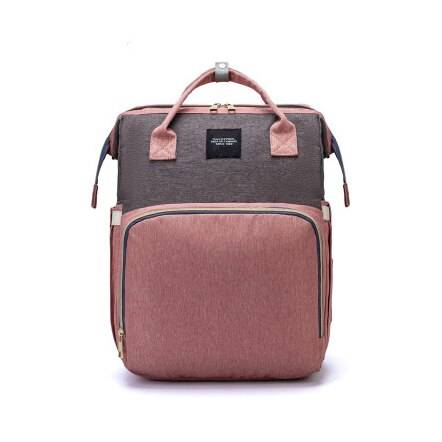Baby Crib Backpack Bath & Baby Care Diaper Bags Color: Pink gray
